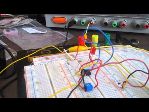 LM393 Voltage Comparator Circuit (operates as night light)