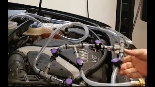 2017-11-12 Flushing an Audi clogged heater core to restore heat