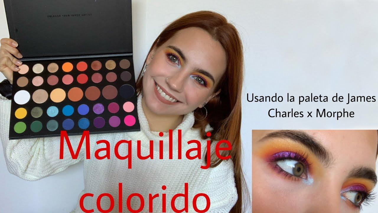 Maquillaje colorido / Paleta de James Charles x Morphe