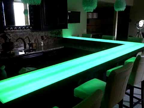 Lighted basement bar youtube mozeypictures Images