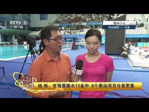 2017布达佩斯国际泳联世锦赛解说嘉宾吴敏霞 Wu Minxia 后台采访