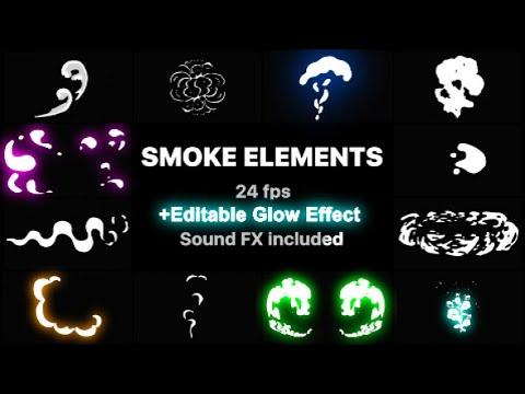 2d Fx Smoke Elements Motion Graphics Templates