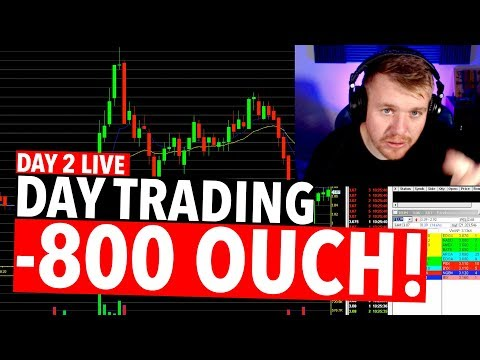 Day 2 Day Trading LIVE! -800 LOSS OUCH!