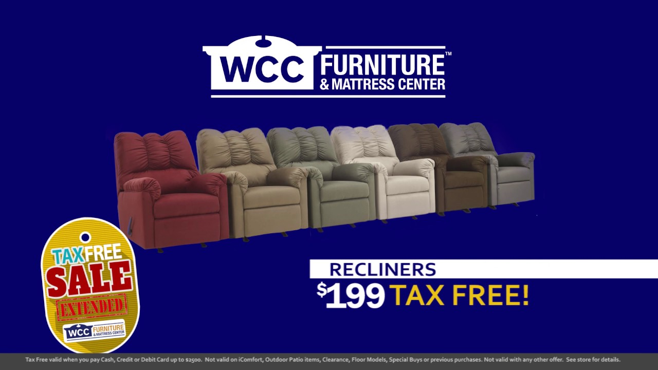Wcc Furniture Tax Free Sale Extended Youtube