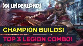CHAMPION BUILD! Top 3 Legion Commander Alliance Combos! | Dota Underlords