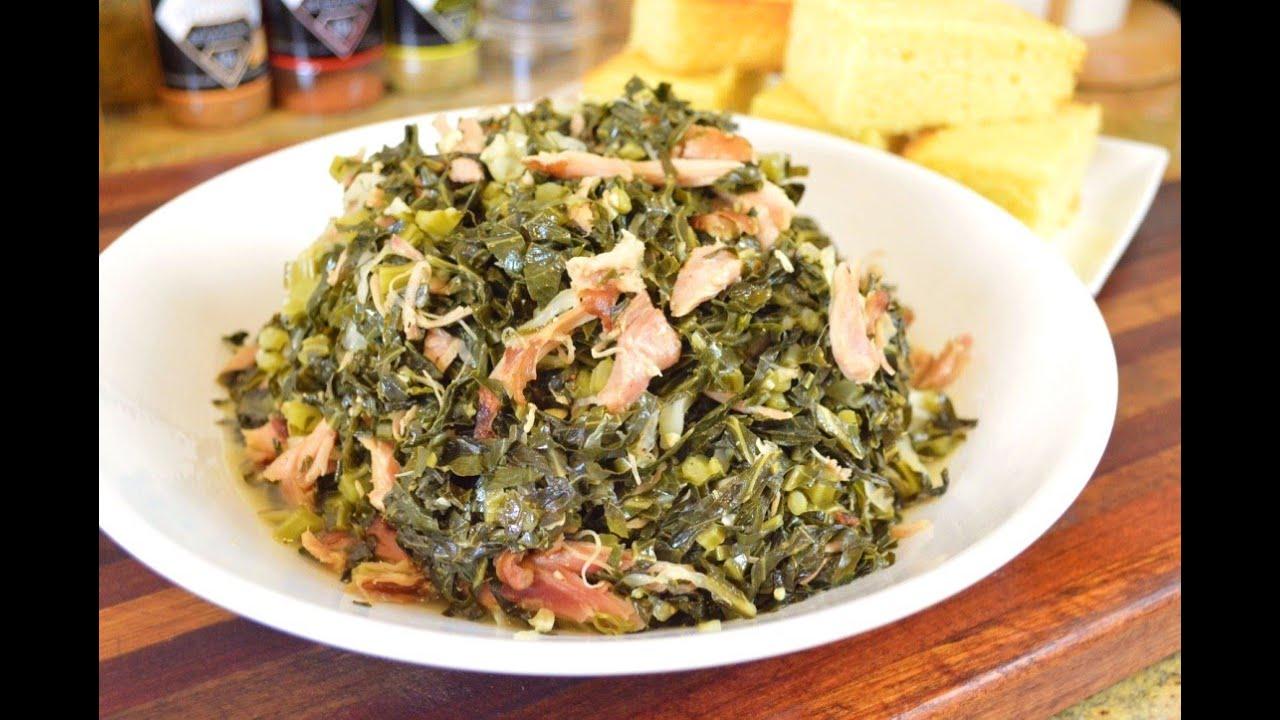 SAUTEED COLLARD GREENS with SMOKED TURKEY  |Cooking With Carolyn