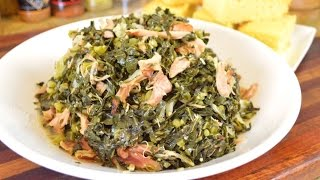Sauteed Collard Greens with Smoked Turkey |Cooking With Carolyn