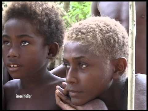 Papua New Guinea Blond Children Singing Christian Songs