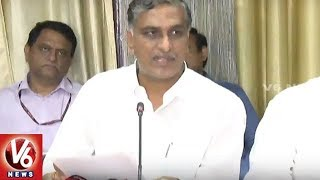 Minister Harish Rao Press Meet After Meeting Union Minister Ajay Narayan Jha | Delhi | V6 News