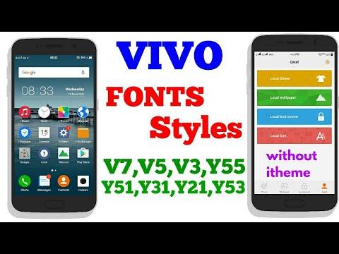 2018 how to change fonts in vivo V5,V3,Y55,Y51,Y31,Y21