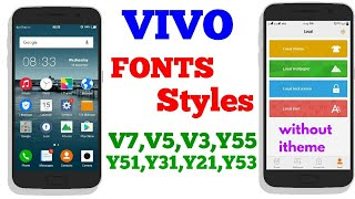 How To Change Font In Vivo Y55l And Any Vivo Smartphone From Youtube