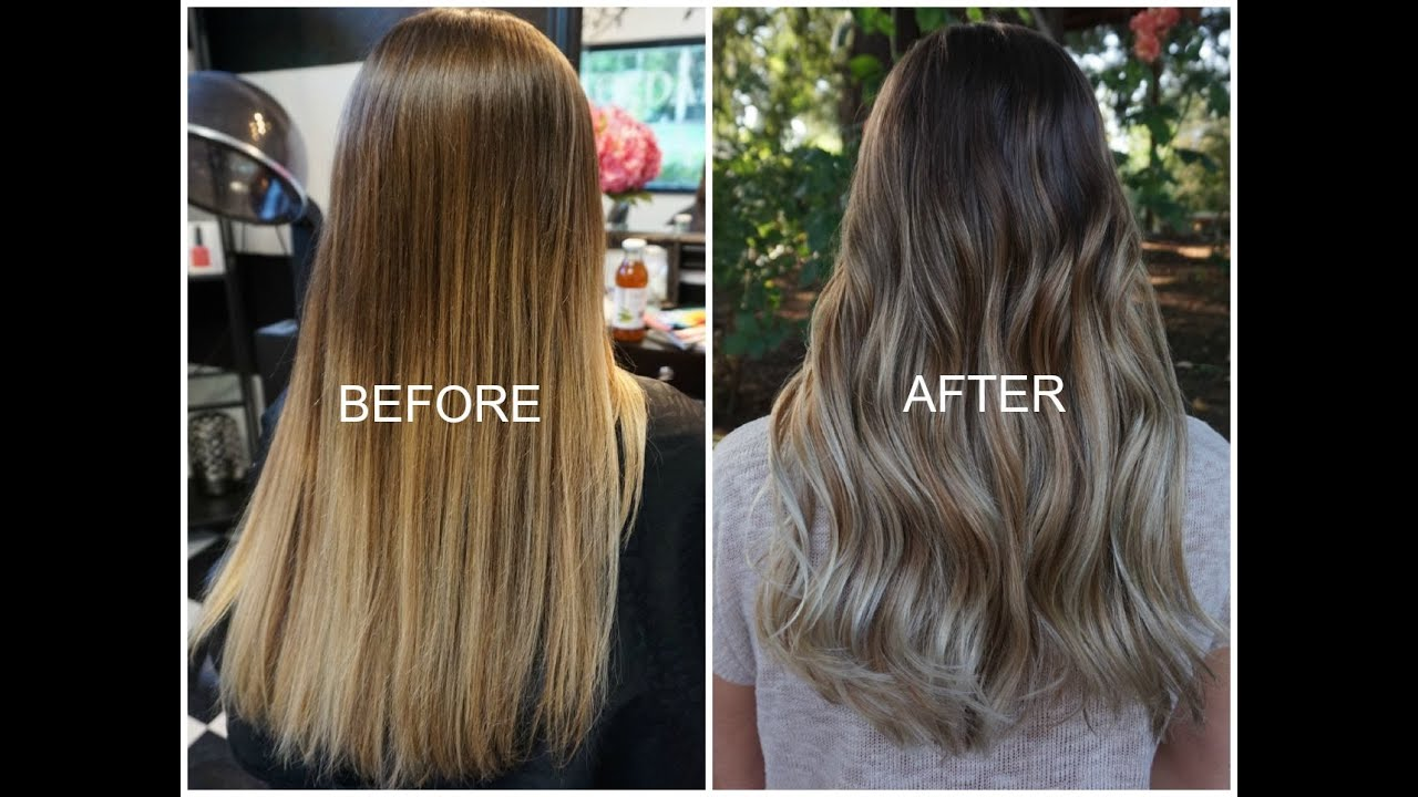 The Quotdiy Ombrequot Gone Wrong Before And After Balayage