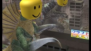 A Battle in Godzilla DAMM but every time a monster hit the ground the roblox death sound plays