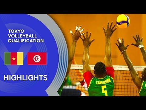 Cameroon vs. Tunisia - Highlights | CAVB Men's Tokyo Volleyball Qualification 2020