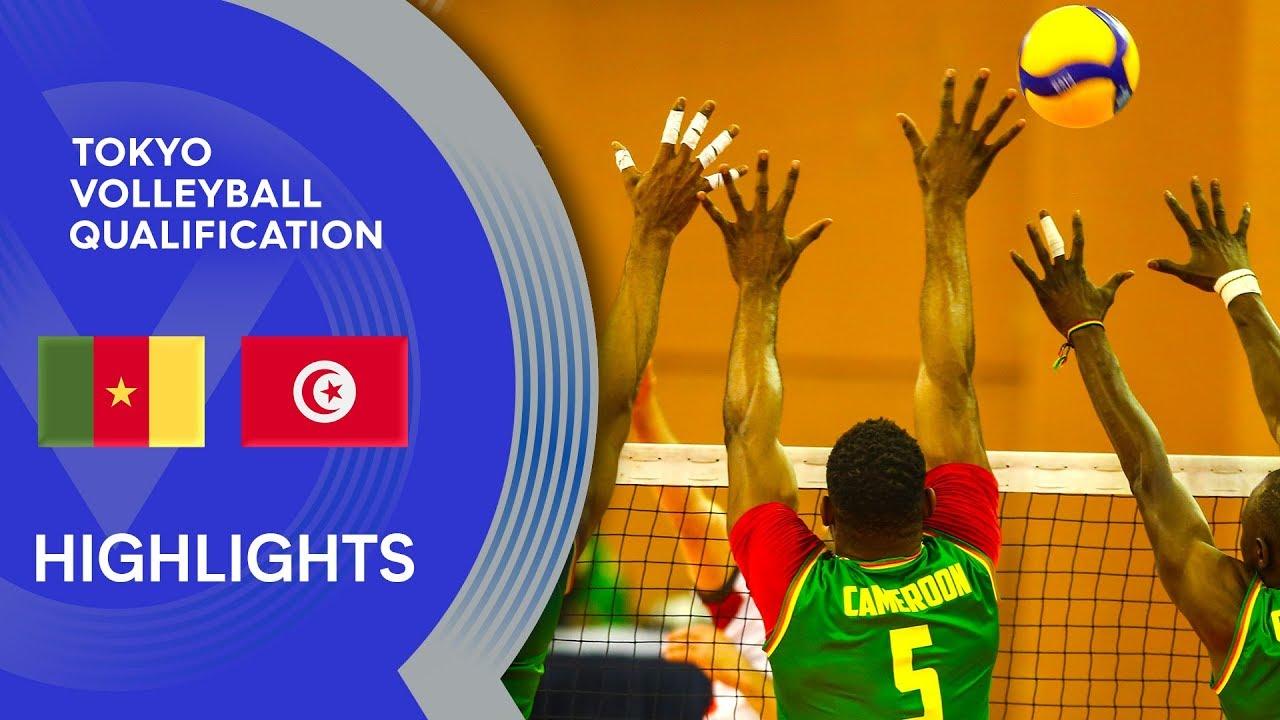 Download Cameroon vs. Tunisia - Highlights | CAVB Men's Tokyo Volleyball Qualification 2020