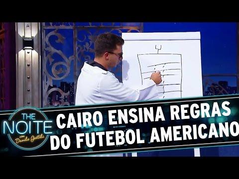 The Noite (17/08/16) - Professor Cairo Santos explica regras do Futebol Americano