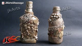 HOW TO: make Antique Bottle from Glass Bottle (Best Out Of Waste) - JK Arts 503