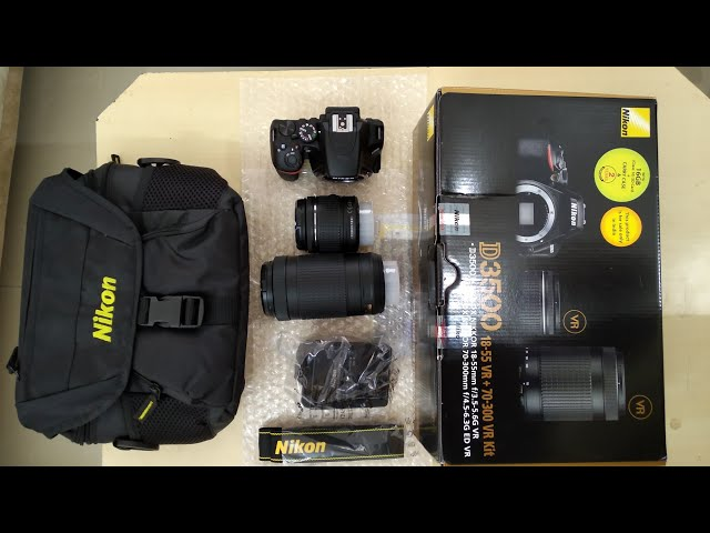 Unboxing NIKON D3500 with review || Best DSLR camera ||