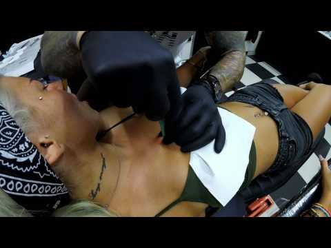 Chest Microdermal - Dirty Roses Tattoo Studio - Thessaloniki - Greece (1080p)