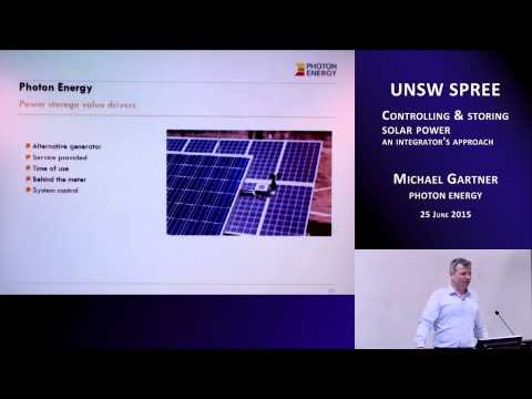 UNSW SPREE 201506-25 Michael Gartner - Controlling & storing solar power