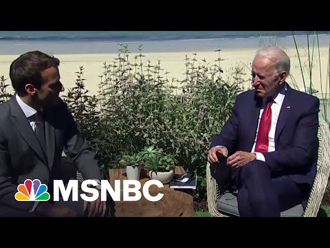 'We're On The Same Page': Biden Holds Meeting With President Macron