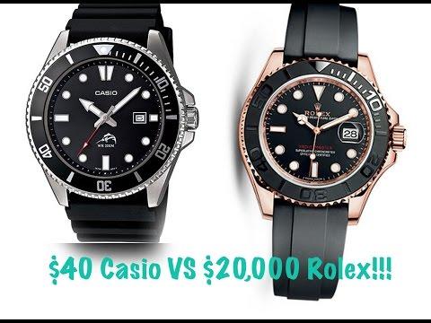 $40 Casio vs $20,000 Rolex