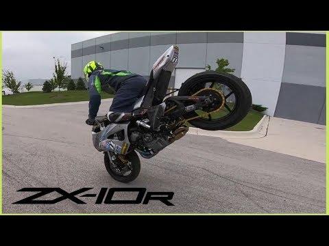 Zx10r Stoppie Bike for ONE LEG Stunt Rider! - (Ryan S)