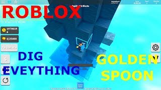 DIGGING EVERYTHING WITH GOLDEN SPOON Treasure Hunt Simulator (Roblox)