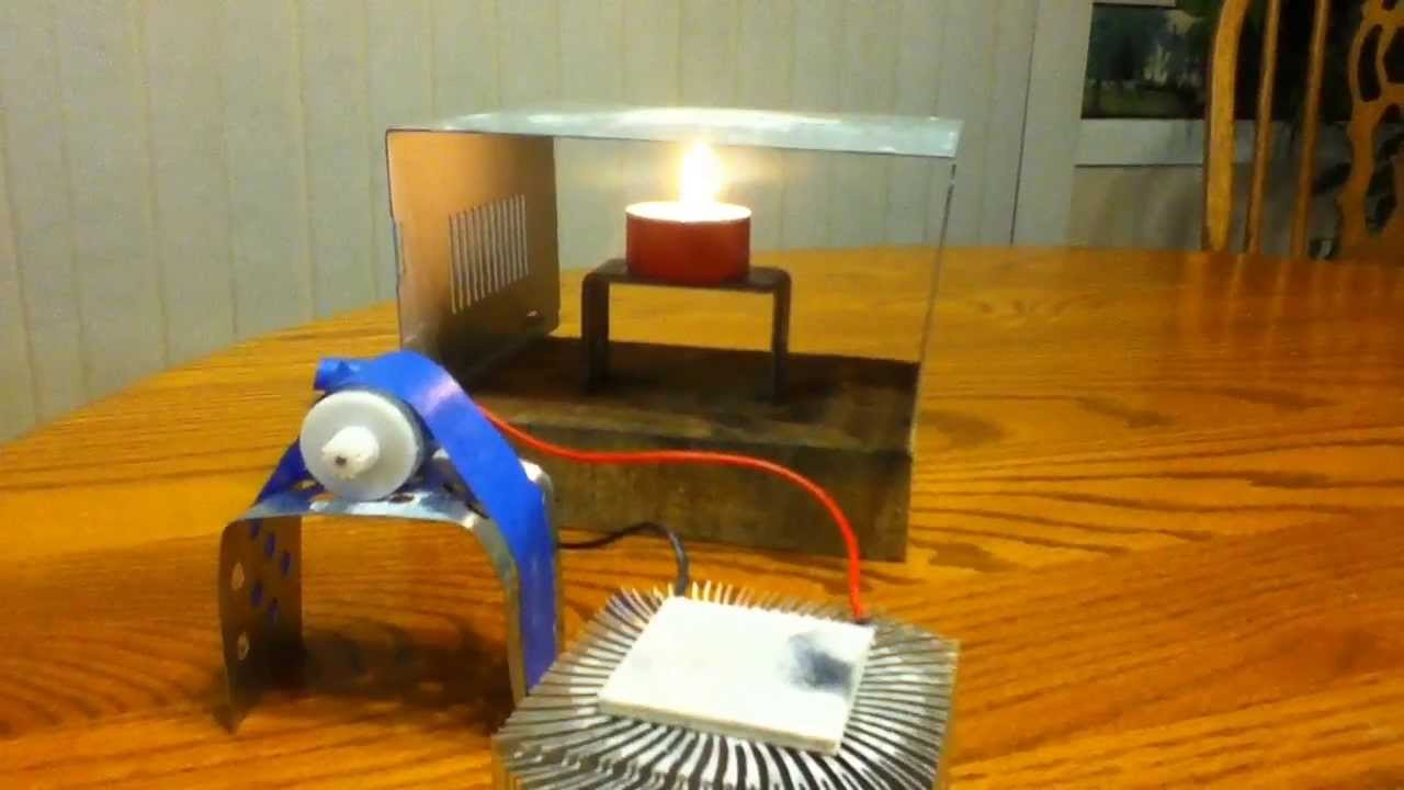 Simple Candle Powered Thermoelectric Device Youtube