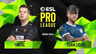 CS:GO - Fnatic vs. Team Liquid [Overpass] Map 1 - Quarterfinals - ESL Pro League Season 10 Finals