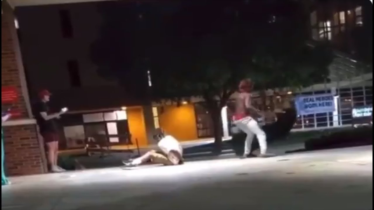 Cop Gets DECKED After Pulling Black Man's Hair and PUNCHING Him #LeaveBlackPeopleAlone