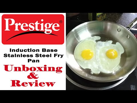 Prestige Induction Base Stainless Steel Fry Pan | Unboxing | Review