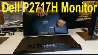 Unboxing of the Dell P2717H monitor and comparison to the P2714H