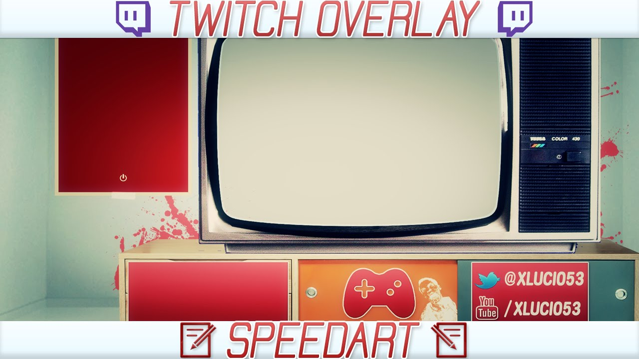 SPEEDART | Twitch Retrogaming OVERLAY