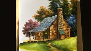 Painting The Basic House In Acrylics - Lesson 2