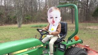Hillbilly Baby and His Tractor!