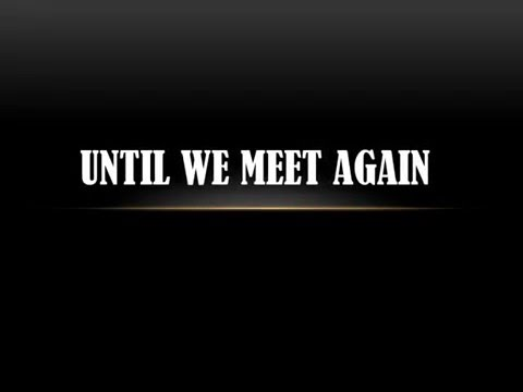 Till we meet again (a sad love poem)