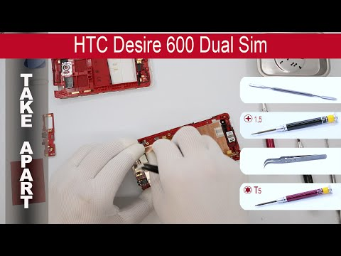 How to disassemble 📱 HTC Desire 600 (PO49100, PO49110) Take Apart, Tutorial