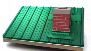 видео Пирог кровли из профнастила с утеплением: устройство покрытия крыши и монтаж
