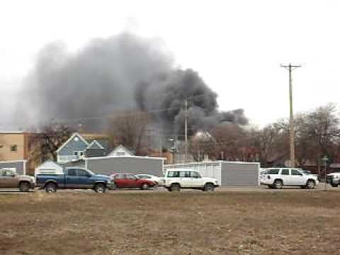 Fire in Miles City MT 2