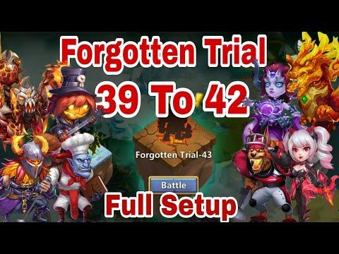 Forgotten Trial - Level 39 40 41 42 | Hero Set Up | Drop Point | Castle Clash