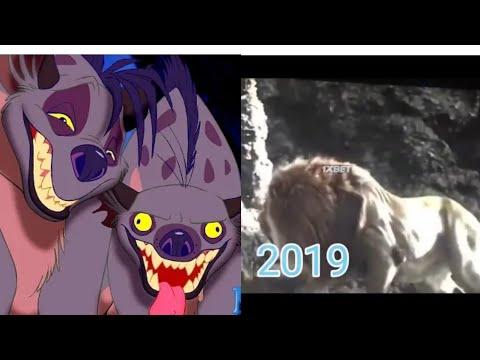 Король лев:Муфаса спасает Симбу от гиен.1994/2019.
