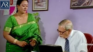 Sorry Maa Aayana Intlo Unnadu Movie Scenes   Shakeela with her Boss Comedy   AR Entertainments