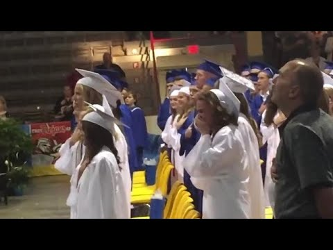 Sister in tears after her Airman brother surprises her at graduation