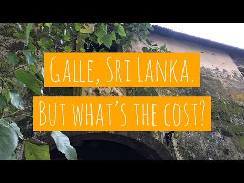 Galle, Sri Lanka. But what's the cost? | How expensive is travelling the world?