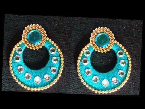 How to make Chandbali Silk Thread Earrings