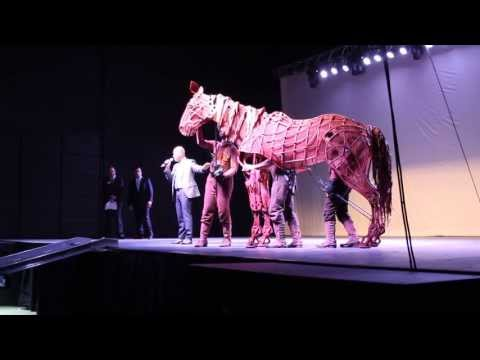 War Horse full-size horse puppet stage show demonstration in Salt Lake City