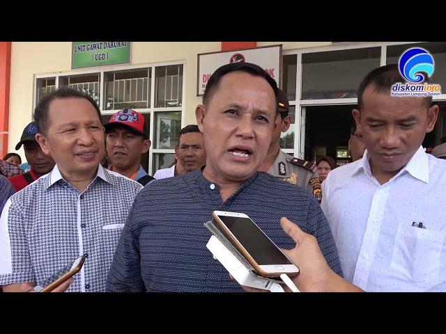 Nanang Tinjau 41 Warga Keracunan Makanan  Di Kecamatan Sragi