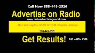 advertise on Mac and Gaydos, KTAR 92 3 FM, Phoenix, AZ