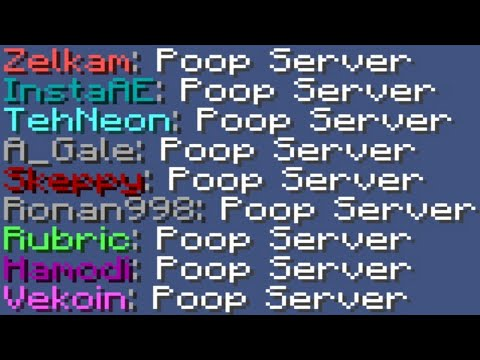 I Own The BEST Poop Server In Minecraft! (Hacking Allowed)